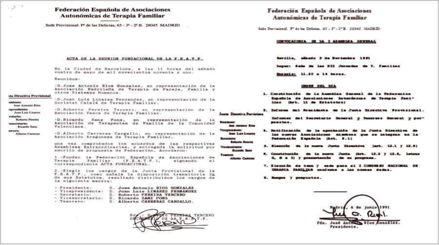 Acta fundacional FEATF