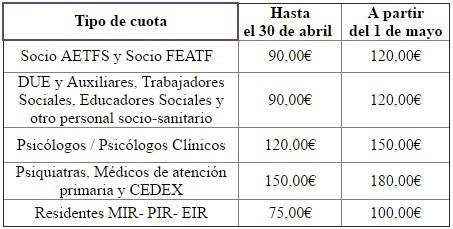 tarifas jornadas AETFS2