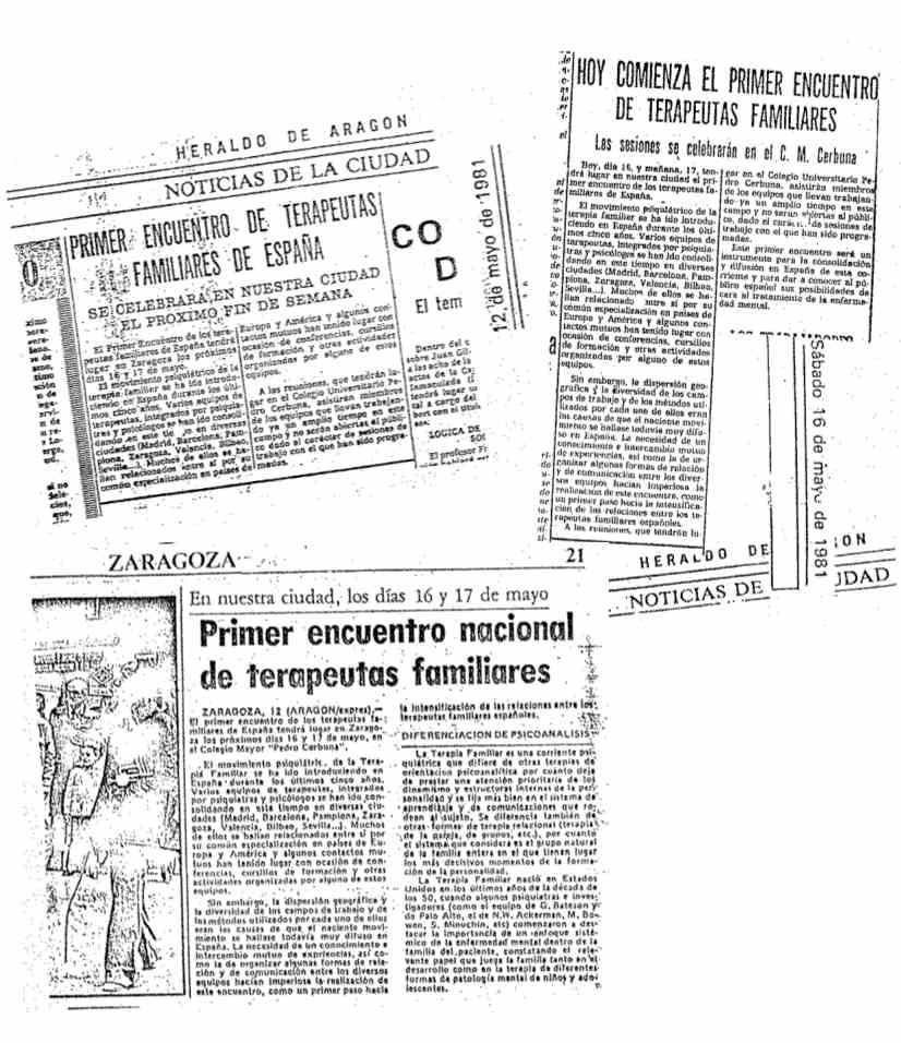 Recortes de prensa. Zaragoza 1981