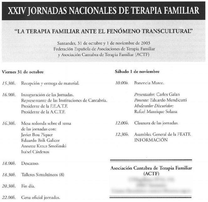 Jornadas Santander 2003