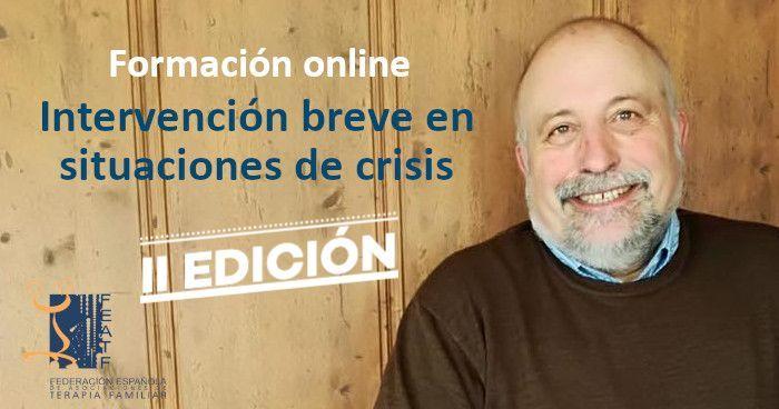Formación online: Intervención breve en situaciones de crisis. II Edición